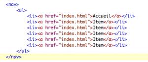 nav verticale html